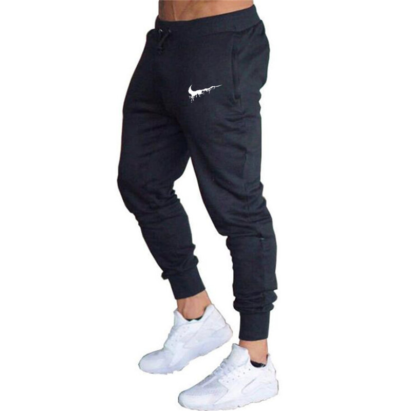 High quality jogging pants men's fitness sweatpants running athletes autumn sports pants brand men's clothing printing