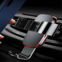 Mounted On Windshield Dashboard Auto Air Condition Outlet Baseus Metal Times Navigation Gravity Cell Phone Holder Accessories