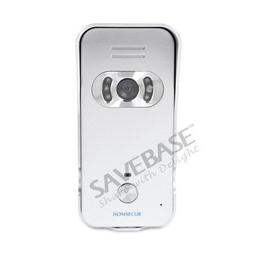 HOMSECUR 7 проводной Hands-free видео и аудио дома, домофон с серебряной Камера + черный монитор 2C3M