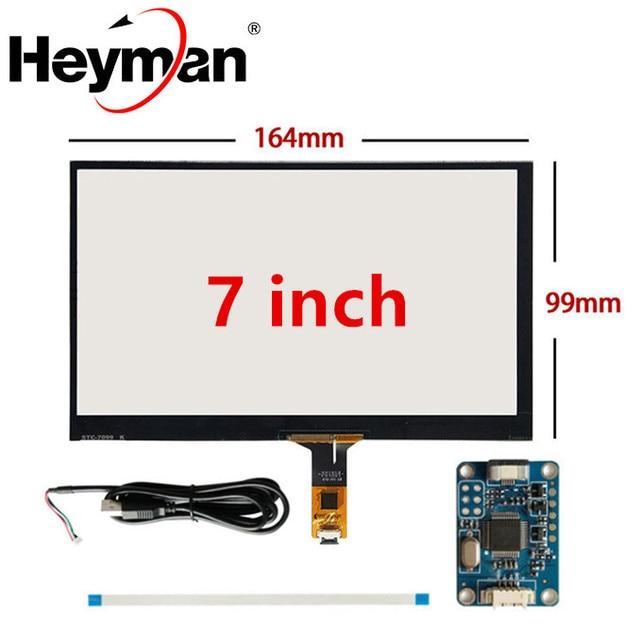 7 pulgadas 165mm * 100mm Raspberry Pi tablet PC navegación táctil capacitiva digitalizador pantalla táctil panel vidrio USB placa de controlador