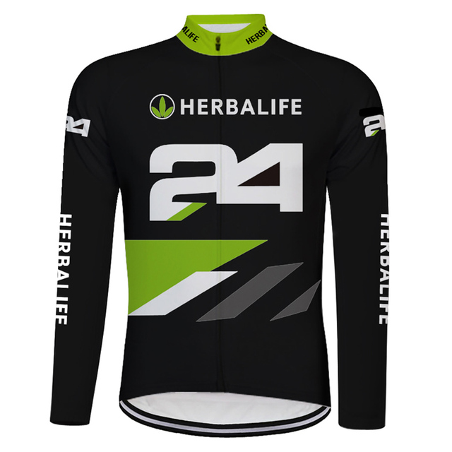 HERBALIFE Men s Cycling Jersey Black   White Long Sleeve Bicycle Clothing  MTB Jersey Bike Sportswear Clothes Ropa Ciclismo db59dc00f