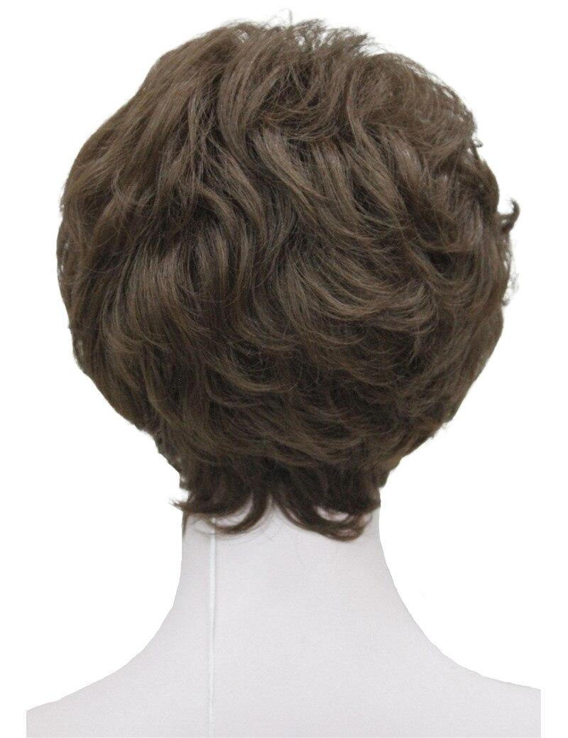 StrongBeauty Shag стиль синтетические парики короткие волнистые слоистые темно-Обурн пользовательские парики для афро-американских - Цвет: 8