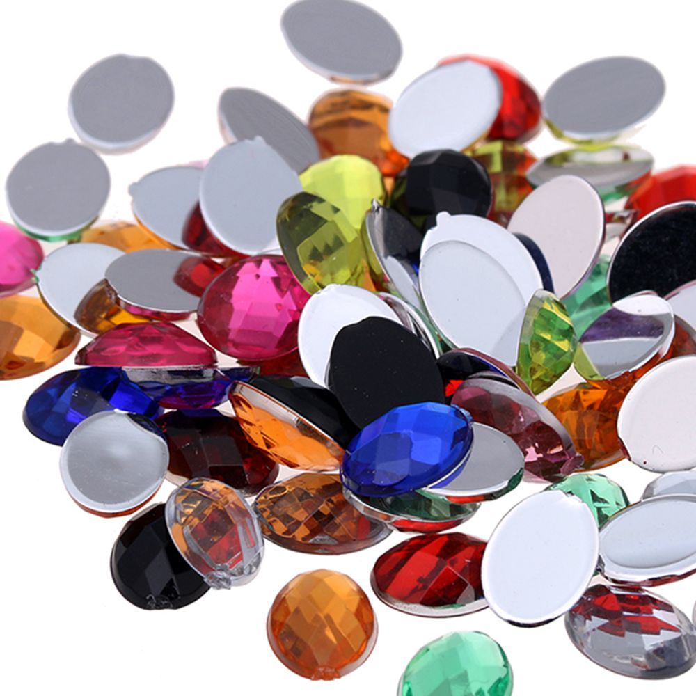 Flatback Oval Faceted Many Siez And Many Colors Acrylic Craft Art DIY Gems  Rhinestone Strass High Shine Nail Art Stones-in Rhinestones from Home    Garden on ... bd9b0018ddc1