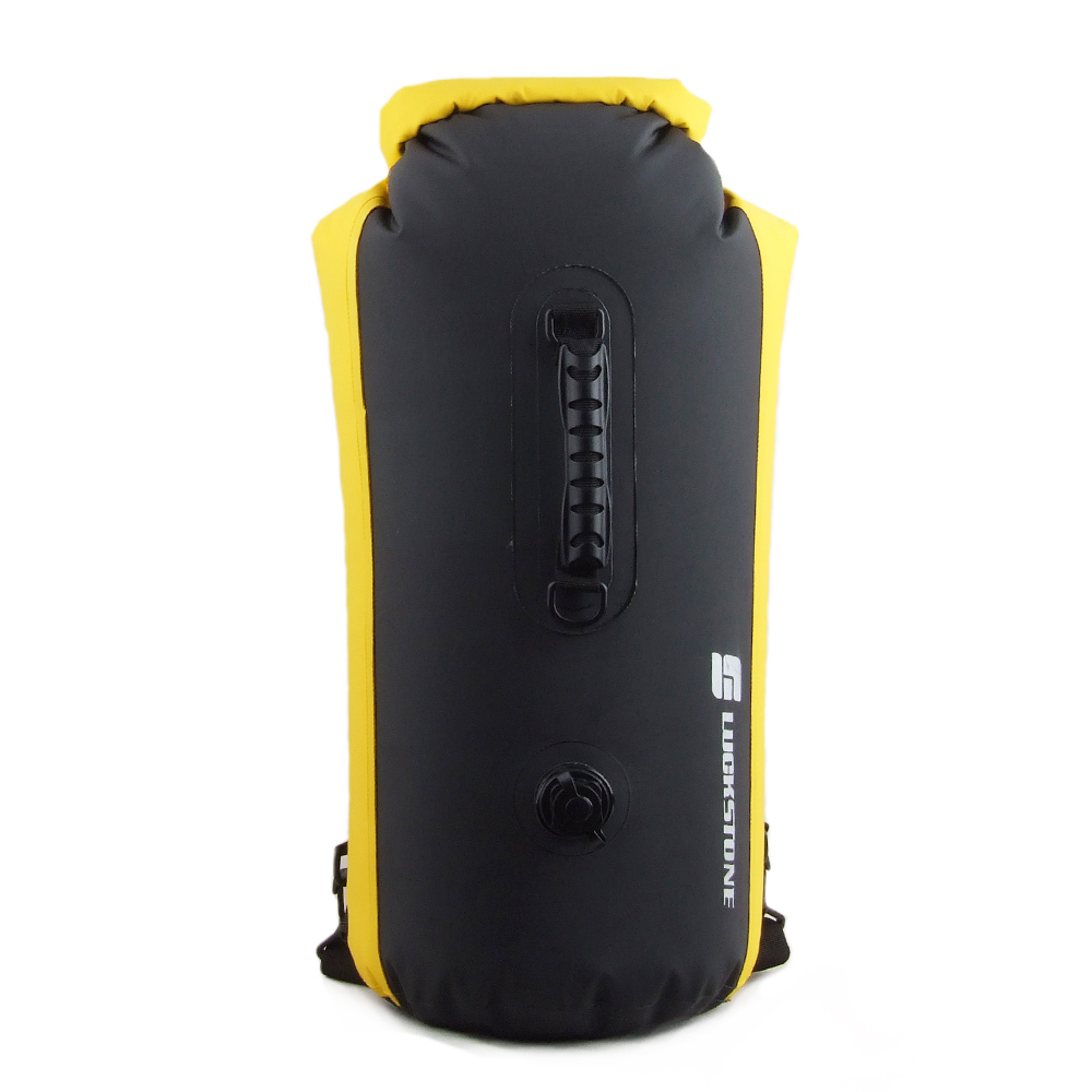 Outdoor Camping PVC 60L Waterproof Backpack High Capacity Anti tear Swimming Drifting Bag For Cloth Phone Storage Pocket