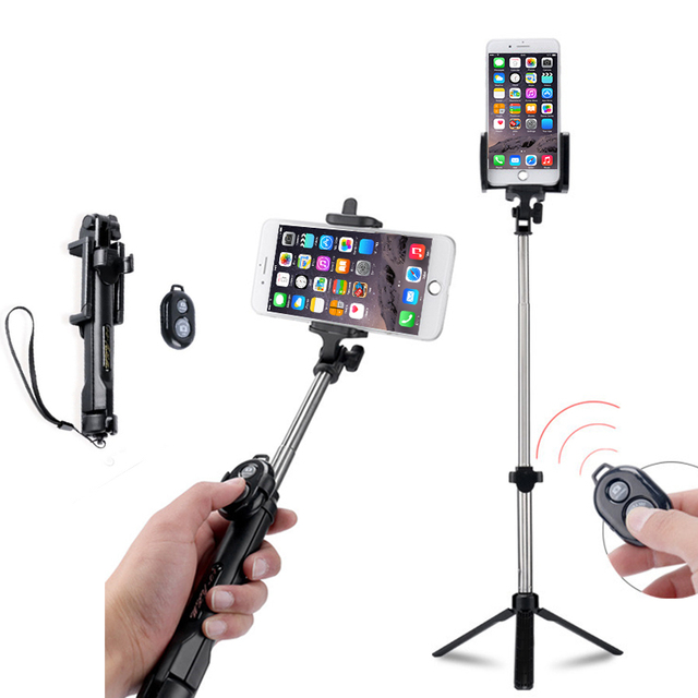 best website 97805 16a3e US $8.39 20% OFF for iphone xs max Bluetooth Selfie Stick Tripod with  Remote Control Button Wireless Selfie Stick for Apple 5 6 7 8 for Samsung  -in ...