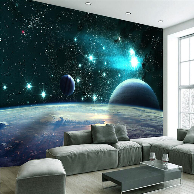 Beibehang Wallpaper Wall Murals Wall Stickers 3d Vast Universe Star