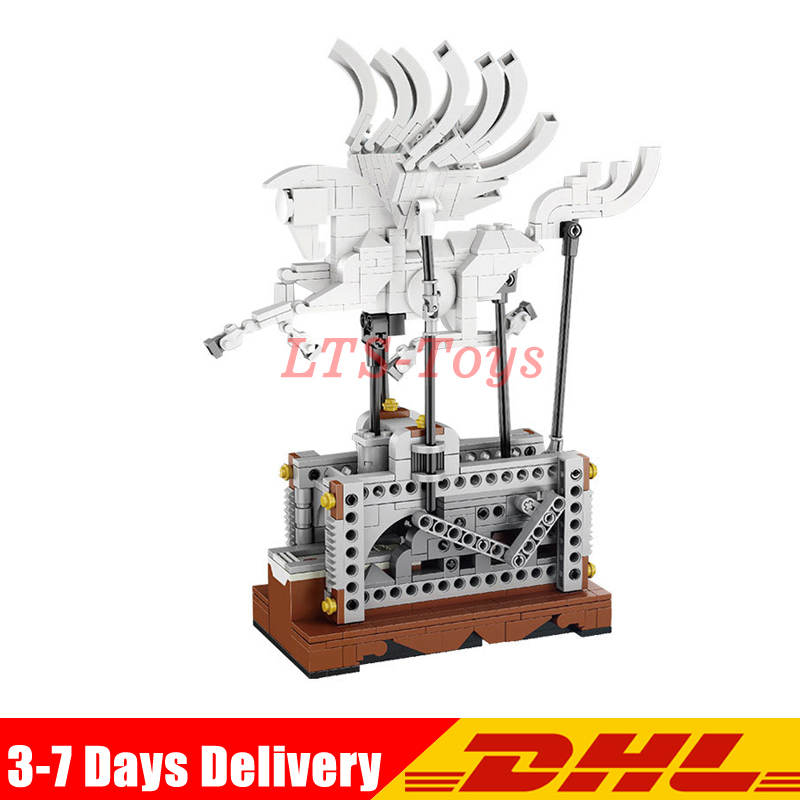Lepin 23015 485Pcs Technic Series The Pegasus Automaton Mechanical Flying Horse Set Educational Building Blocks Bricks in stock lepin 23015 485pcs science and technology education toys educational building blocks set classic pegasus toys gifts