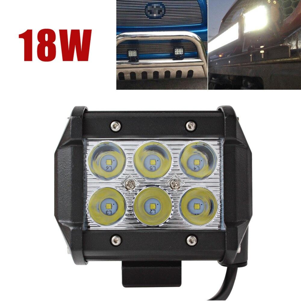 3.7 дюймов 12 В 18 Вт 1440LM светодиодный свет Offroad Вождение автомобиля лампа для авто мотоцикл трактор Лодка 4WD off Road Грузовик worklight