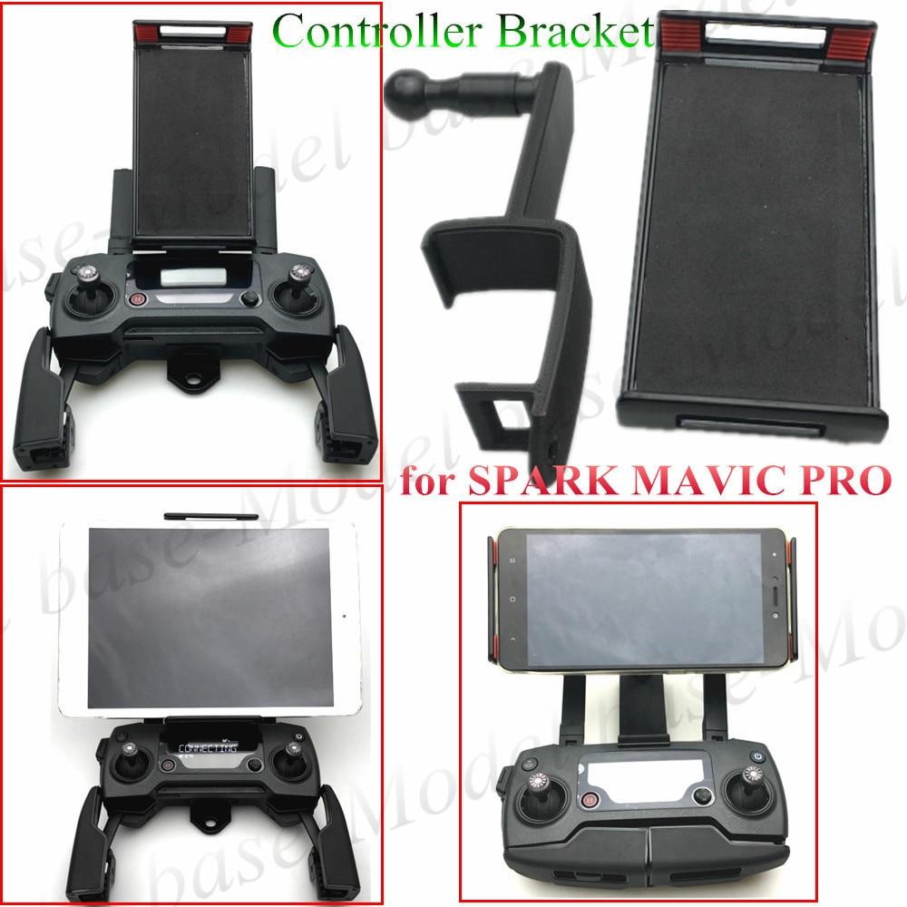 Black Remote Controller Clamp Tablet Support Holder for DJI Spark Mavic Pro