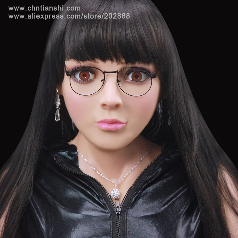 SF-4 party crossdress masquerade fancy-dress costume female silicone mask/props fixed with zipper