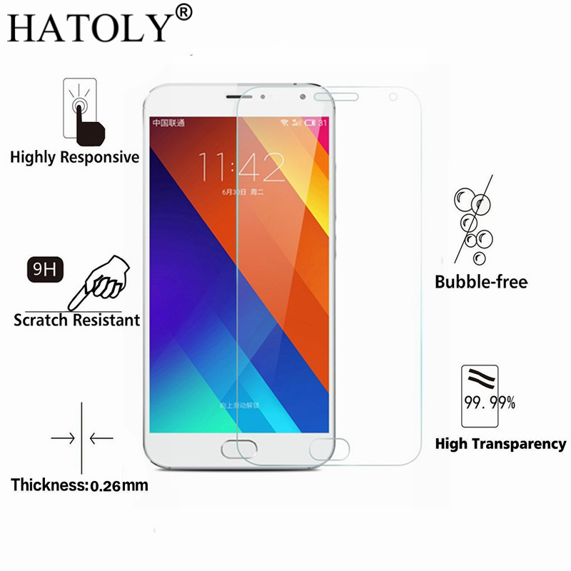 2PCS Tempered Glass For Meizu MX5 Ultra-thin Screen Protector For Meizu MX5 Glass MX 5 Meizumx5 HD Toughened Film HATOLY