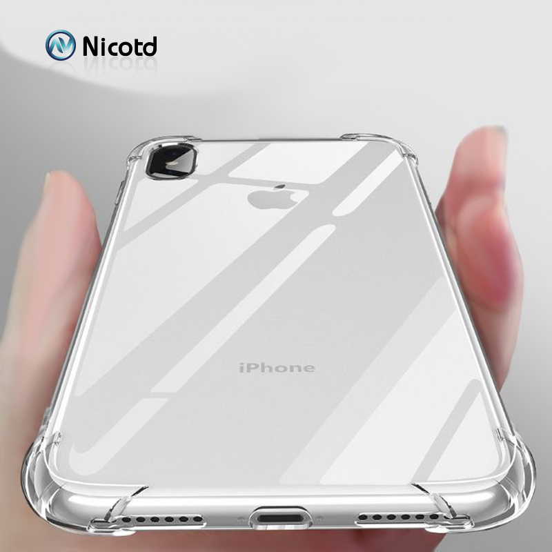 Ultra thin Clear Transparent TPU Silicone Case For iPhone X XS MAX XR 6 7 6S Plus Protect Rubber Phone Case sFor iPhone 8 7 Plus (7)
