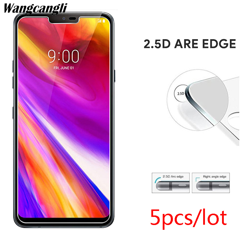 5pcs/lot tempered glass film For LG G7 explosion-proof screen protector 2.5D