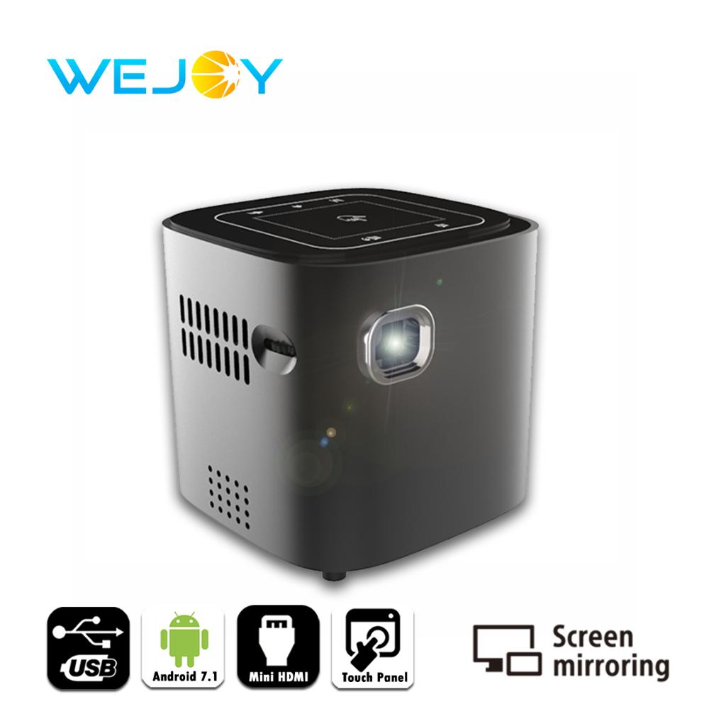 Wejoy Android 7.1 DL S12 Mini LED Projector DLP Beamer Home Theater Data Show Portable Projetor HDMI IN Touch Pad