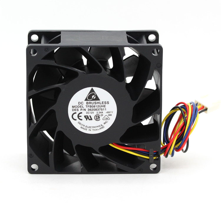 For Delta TFB0812UHE -5H2L DC12V 2.34A 80x80x38mm Server Square Inverter Axial Cooling Fans