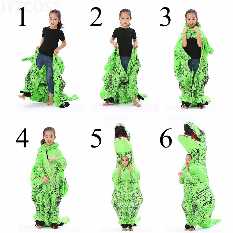 JYZCOS t rex Inflatable Dinosaur Costume-