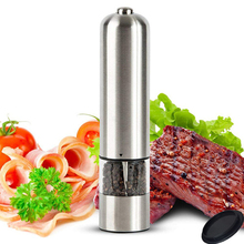 1 Piece Pepper Grinder Stainless Steel Electric Pepper Mill With LED Lights Spice Mill Kitchen BBQ Tools Salt And Pepper Grinder high efficiency automatic 400g electric stainless steel dry pepper spice powder grinder machine for sale