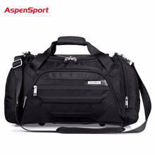 AspenSport 2017 Men Waterproof Weekend Bags Travel Luggage Nylon Duffle Bags Trip Handbag Large Bag Carry on hand bag