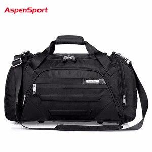 Image 1 - AspenSport 2017 Men Waterproof Weekend Bags Travel Luggage Nylon Duffle Bags Trip Handbag Large Bag Carry on hand bag