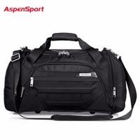 AspenSport 2017 Men Waterproof Weekend Bags Travel Luggage Nylon Duffle Bags Trip Handbag Large Bag Carry on hand bag