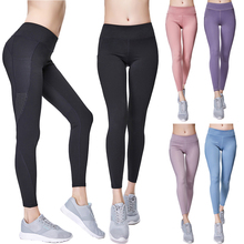 цена на Super Stretchy Mesh Print Fitness Sport Leggings Tights Slim Running Sportswear Sports Pants Yoga Pants Quick Drying Pants D25