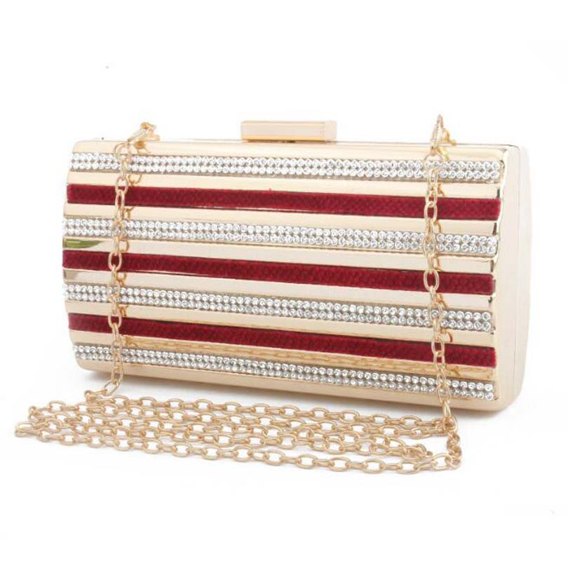 Patchwork Handbag Purse Clutch-Cage Crossbody-Bags Evening-Bag Party Vintage Women Wallet