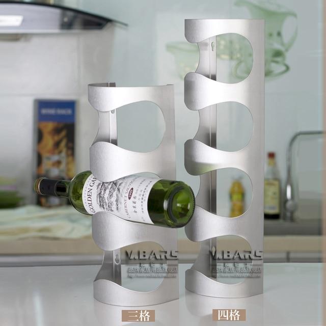 Bai Wei Shi Modern Stainless Steel Wine Rack Creative Cabinet Wall  Ornaments European Luxury High With Wei Modern