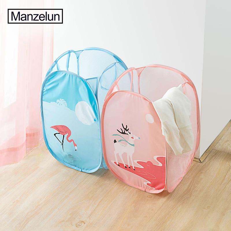 Cartoon Folding Laundry Basket Toy Storage Picnic Basket Box  (8)