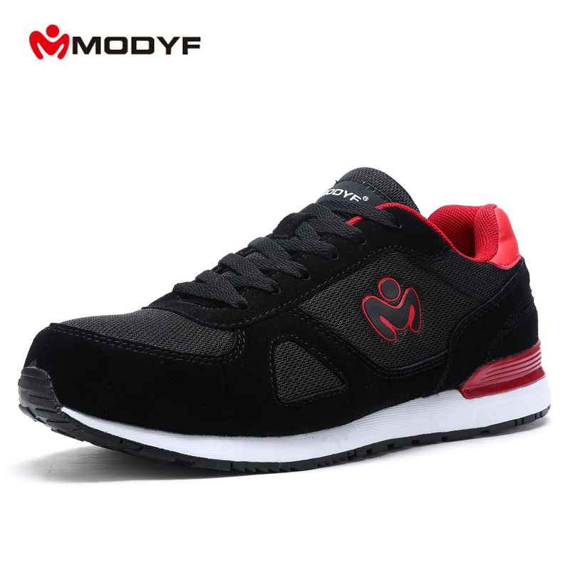 Modyf men's Summer Spring steel toe cap work safety shoes casual breathable outdoor boots skateboard shoes(one size smaller) dc shoes ремень dc shoes chinook washed indigo fw17 one size