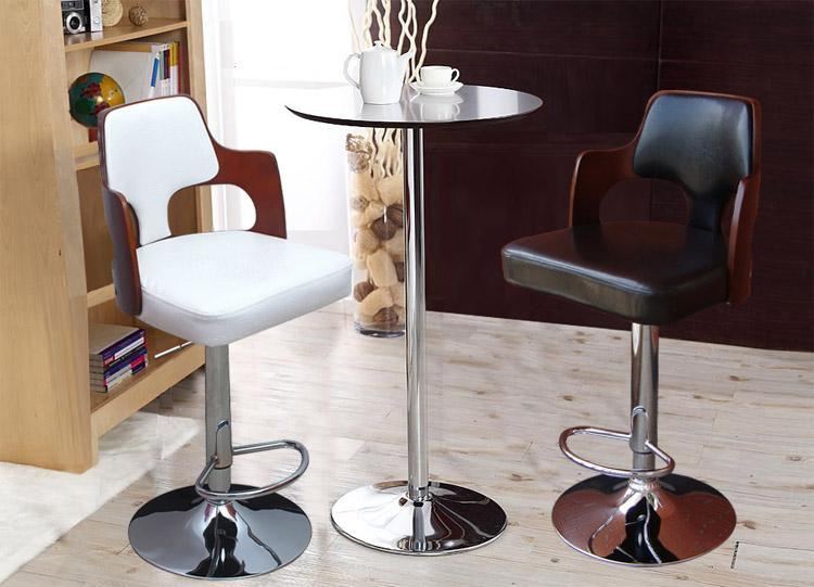 bar chair home birthday pary lift stool white black PU leather seat computer rotation chair free shipping continental bar chairs rotating chair lift back bar stool reception tall silver beauty makeup chair