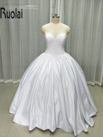 2017 new charming ball gown sweetheart lace appliques real sample formal long wedding dresses satin wedding.jpg 200x200