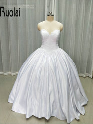 2017 new charming ball gown sweetheart lace appliques real sample formal long wedding dresses satin wedding.jpg 250x250