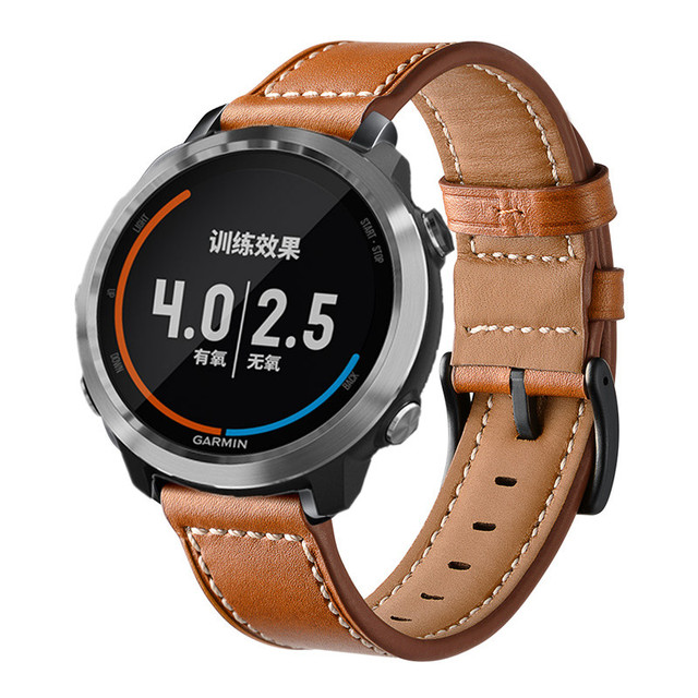 Band for Garmin Vivoactive3 Genuine Leather Wristband Band Replacement wrist Strap bracelet  WatchBand For Vivoactive 3
