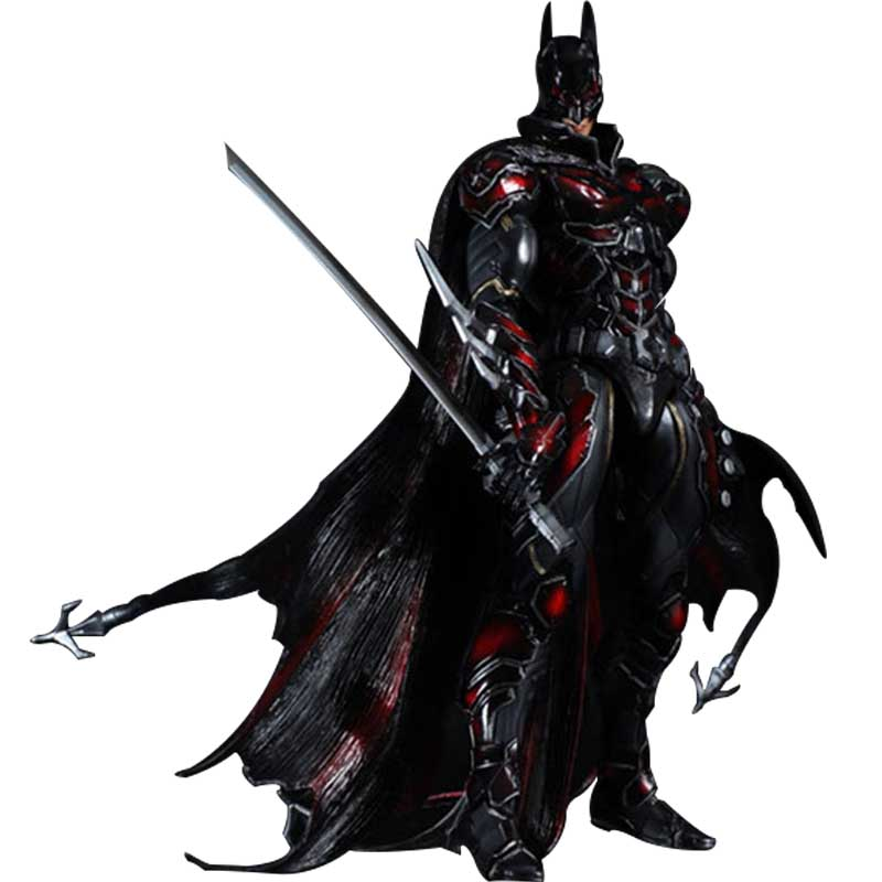 28cm PLAY ARTS DC Comics Superhero The Dark Knight Batman KAI Batman PVC Action Figure Red Limited Ver. Collectible Model free shipping 6 comics dc superhero shfiguarts batman injustice ver boxed 16cm pvc action figure collection model doll toy
