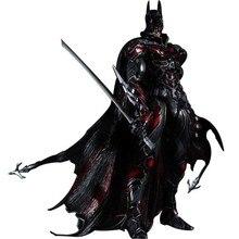 28cm PLAY ARTS DC Comics Superhero The Dark Knight Batman KAI Batman PVC Action Figure Red Limited Ver. Collectible Model