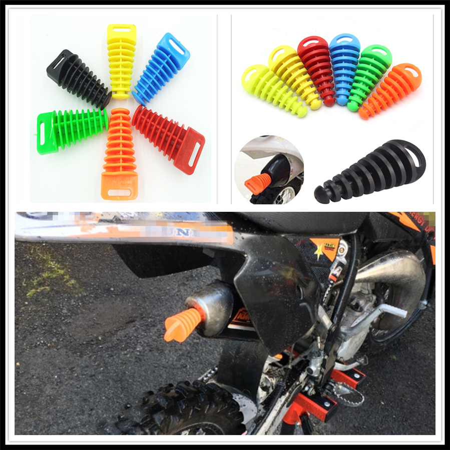 1 Pc Exhaust Silencer Muffler Wash Plug Pipe Protector Motorcycle Exhaust Pipe Motocross Tailpipe Motorbike Exhaust Mounting Parts