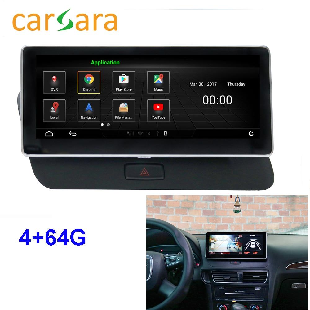 Au di Q5 Facelift Android Monitor de Rádio 2009-2016 Unidade de Cabeça Tela de Toque Sistema de Navegação 10.25 Polegada 4g RAM 64g ROM