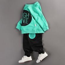 Long Sleeve O-Neck Tshirt + Pant 2 Pieces Clothing Set