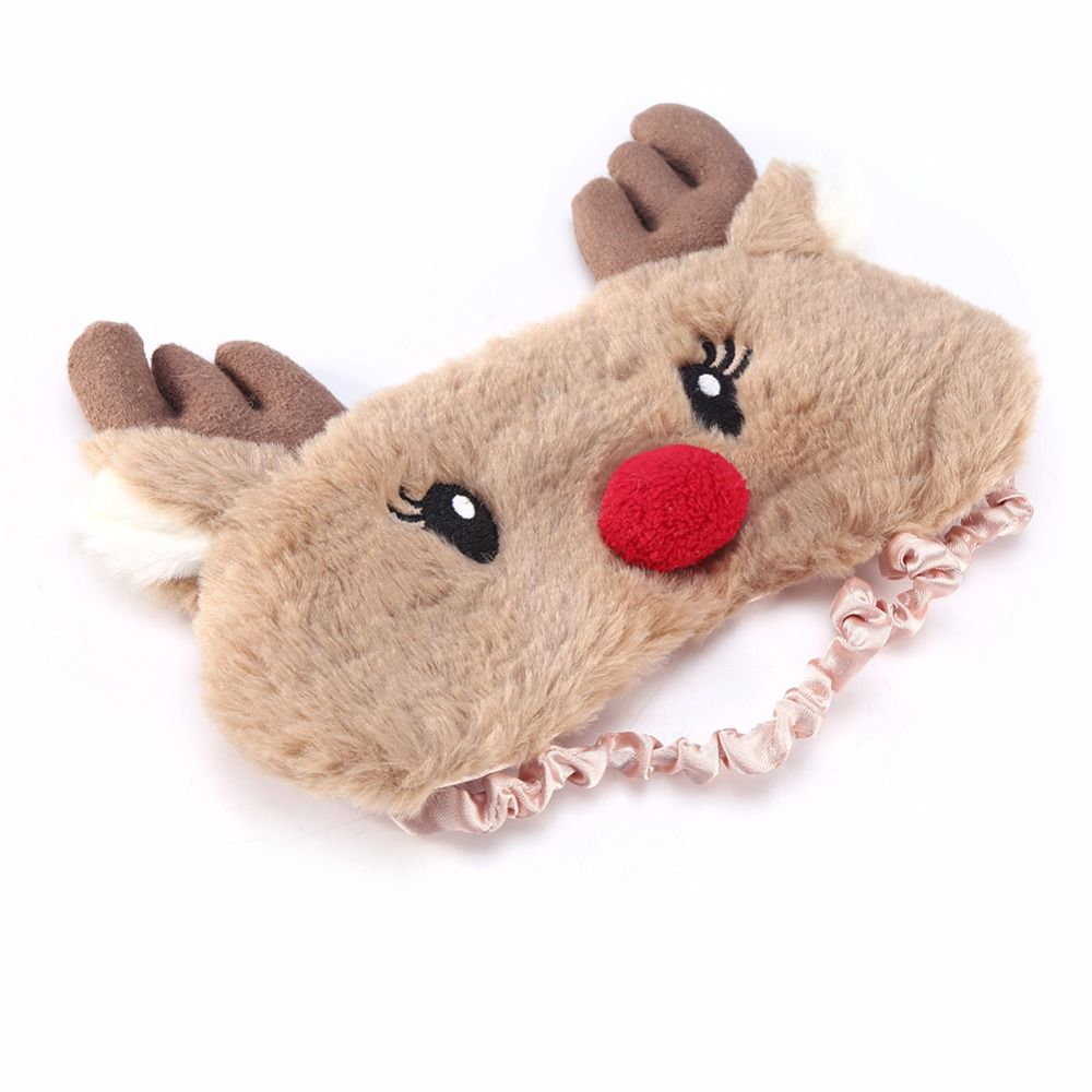 Christmas-Deer-cute-animal-eye-cover-Plush-Fabric-Sleeping-Mask-Eyepatch-Winter-Cartoon-nap-Eye-Shade (1)