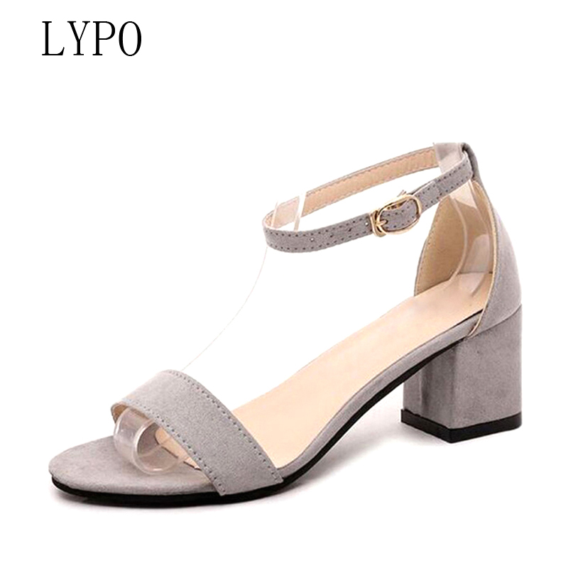 LYPO Summer Women Sandals Low Heel 5CM Square heel Open Toe Flip Flops Women's Sandles Thick Heel Korean Style Gladiator shoes new summer women sandals open toe women s sandles thick heel women shoes korean style gladiator shoes