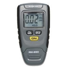RM660 Thickness Gauge Fe/NFe 0-1.25mm for Car Instrument Iron Aluminum Base Metal LCD Display free shipping cheap fe nfe 2 in one build in probe coating thickness gauge cm8802fn