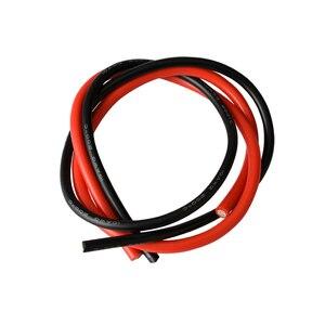 Image 2 - 10 AWG تقطعت بهم السبل سلك ربط مرنة سيليكون سلك كهربائي المطاط معزول المعلبة النحاس 600 فولت 0.5 متر أسود 0.5 متر الأحمر