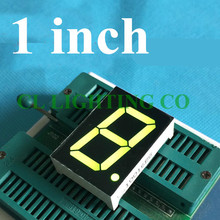 Зеленый 1 бит цифровая трубка 1 дюймов 7 сегментный светодиодный дисплей 34*24*10,5 мм Никси трубка пластик металл общий анод