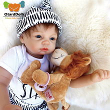 2018 New Arrival 22inch 55cm Bebe Reborn Babies Silicone baby Reborn lifelike baby Vinyl Doll Toys for child Juguetes Brinquedos недорого