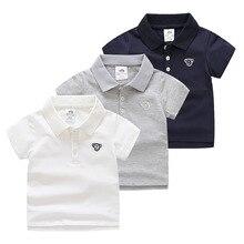 цена 2018 Summer 2-12T Kids Children's Birthday Gift Cotton Short Sleeve Solid Color White Navy Blue Gray Monkey T Shirt Boy 12 Years онлайн в 2017 году