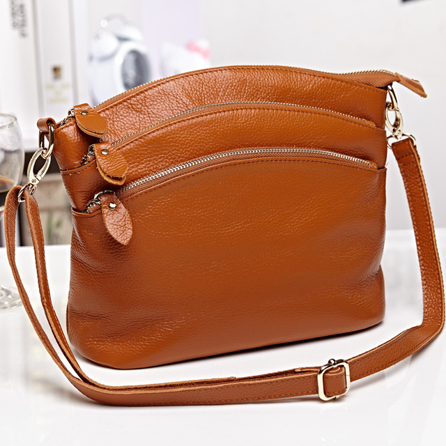 Fashion Women Messenger Bags Cowhide 100% Genuine Leather Cross Body Shoulder Bags Handbags Womens Famous Brands High Quality