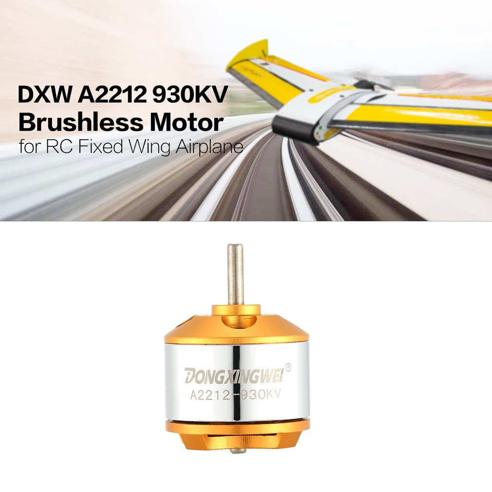 DXW A2212 2212 930KV 2-4S 3.17mm Outrunner Brushless Motor for RC FPV Fixed Wing Drone Airplane Aircraft 1060 Propeller