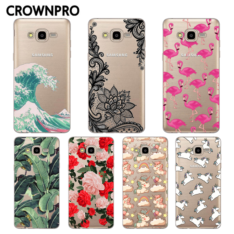 Galleria fotografica CROWNPRO FOR Coque Samsung Galaxy J7 2016 Case J710 J710F J710H Painted Soft Silicone Protective FOR Funda Samsung J7 2016 Case