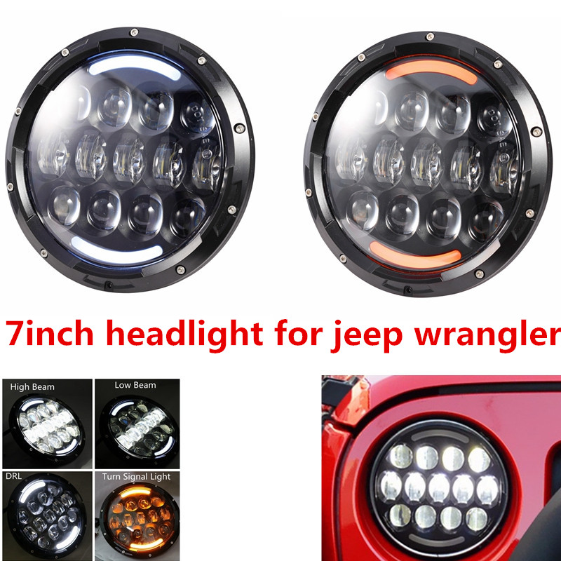 DOT E9 Mark 7inch LED Car Headlight With Hi/lo Beam Front Offroad Driving Headlamp 7'' Headlight Led For Jeep Wrangler Defender хай хэт и контроллер для электронной ударной установки roland fd 9 hi hat controller pedal