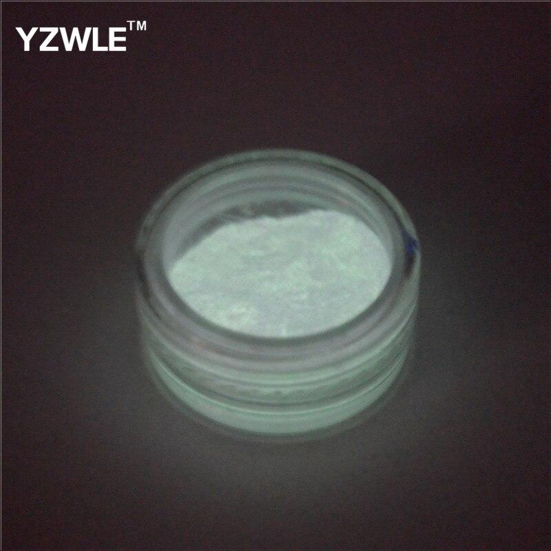 1 шт флуоресцентный порошок Сделай Сам яркий дизайн ногтей светится в темноте песочный порошок пигментная пыль светящаяся блестящая голографическая блестка для ногтей - Цвет: Color 10